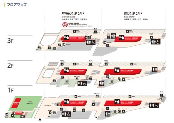 福岡競艇場のフロアマップ