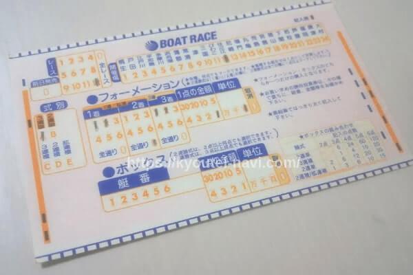 フォーメーションのマークカード