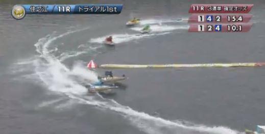 住之江11レースのラストターン