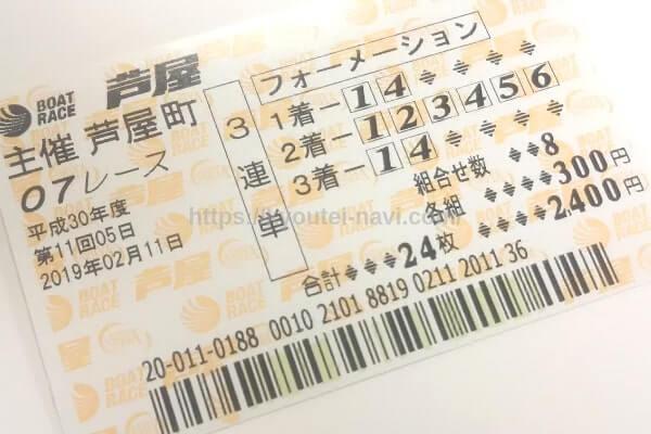 舟券の写真