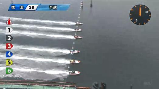 徳山競艇場の枠番別コース取得率