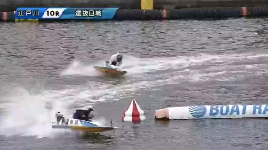 江戸川競艇場のコース別の1着率・2着率・3着率