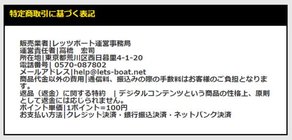 レッツボートの運営者情報