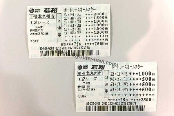 若松12Rの舟券