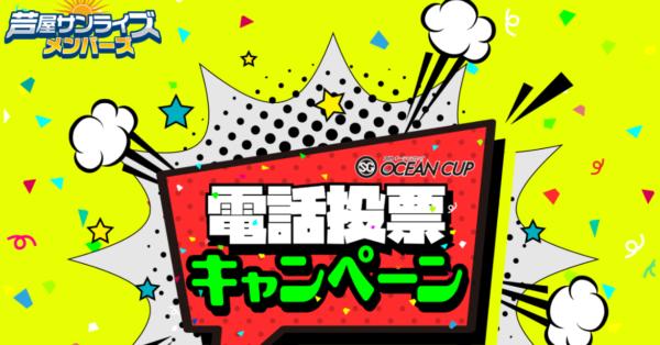 オーシャンカップの電話投票キャンペーン